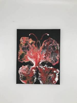 Schmetterling, Acryl auf Leinwand, 30x24