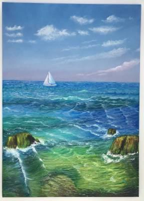 Meeresbrise, Öl auf Leinwand, 70x50