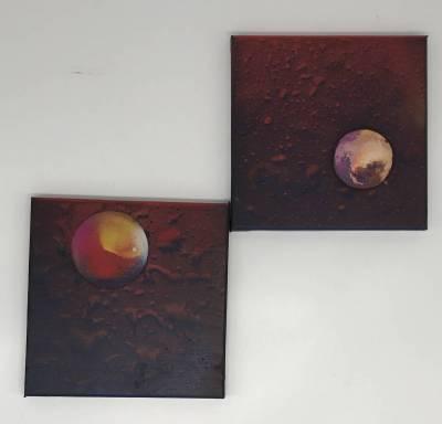 Irgendwo im Weltall, 2 x Bilder, 20x20