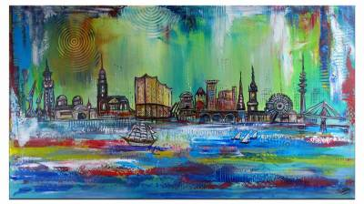 Hamburg - moderne Skyline