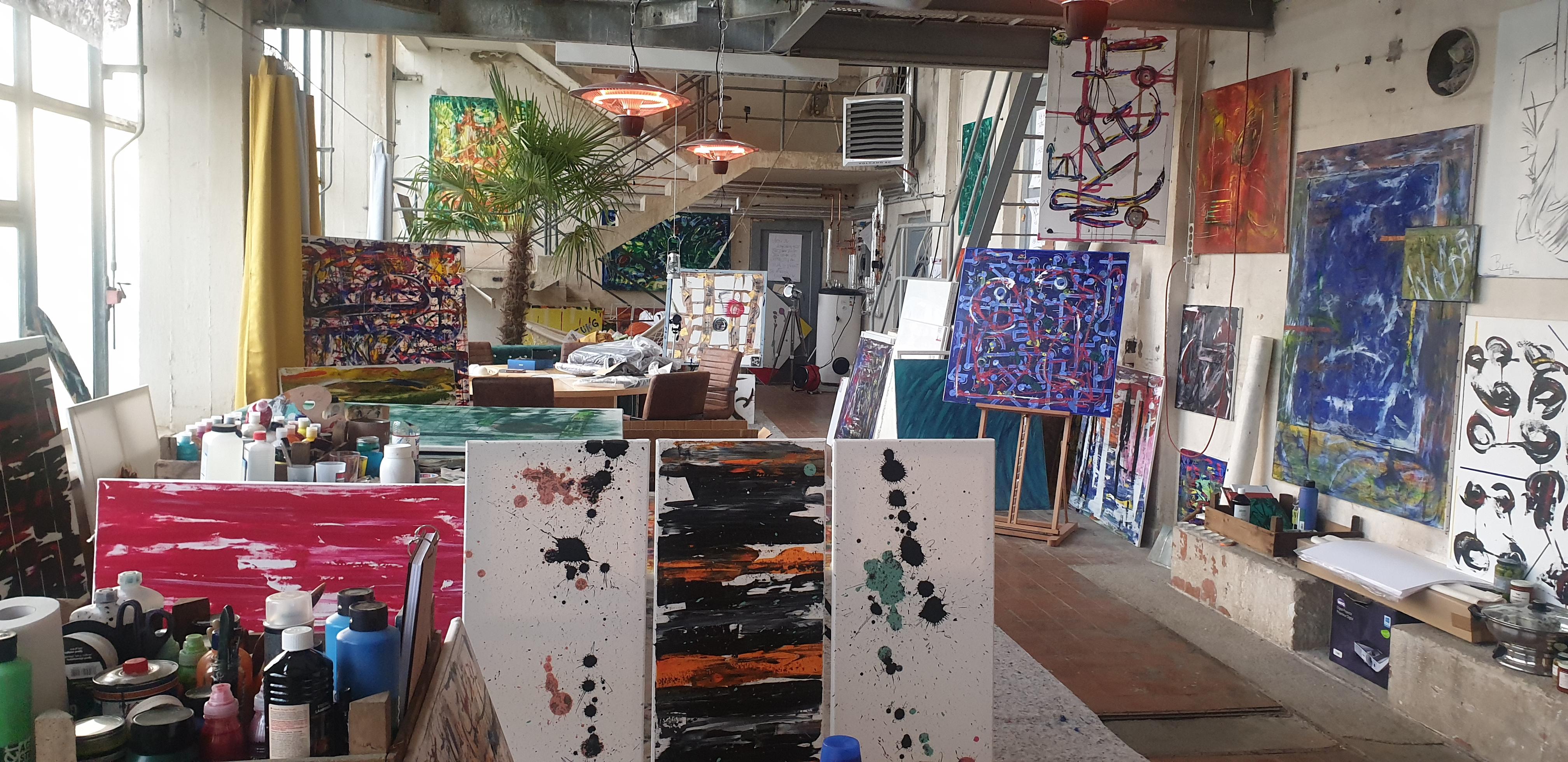 Ausstellungsbild: Neues Atelier vom Potsdamer Künstler Bernd Blase wird am 24.04.2021 in Senftenberg eröffnet