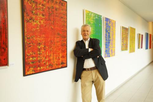Ausstellung 'Farbfaszinationen - abstrakte Malerei 2018/2019' von Volker Franzius